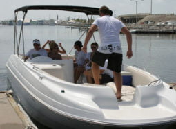 Key West 26′ Deck Boat Rental